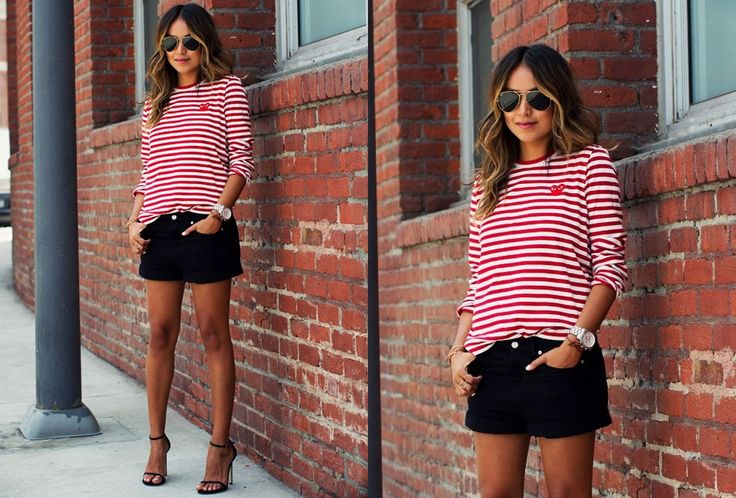 rood-wit gestreept shirt