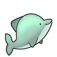 Cute Dolphin - Lots of clip art on this site