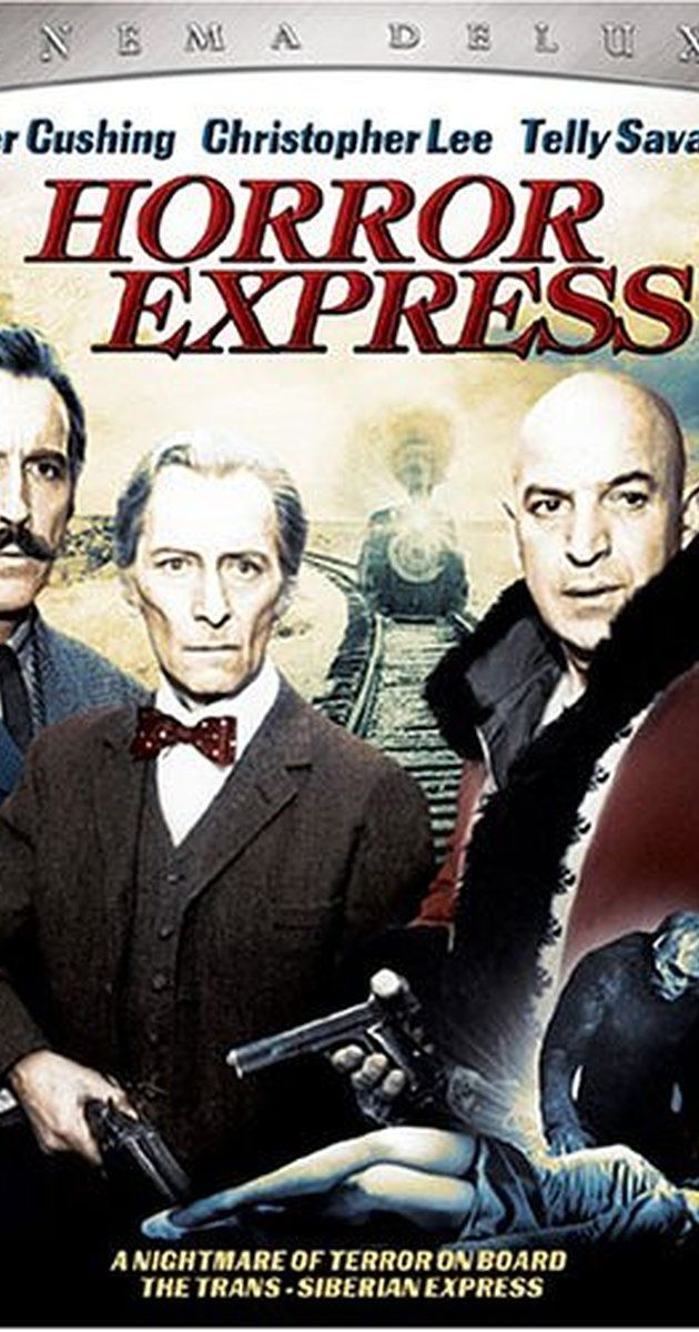 Directed by Eugenio Martín.  With Christopher Lee, Peter Cushing, Telly Savalas, Alberto de Mendoza. In 1906, in China, a British anthropologist discovers a frozen prehistoric creature and must transport it to Europe by train.