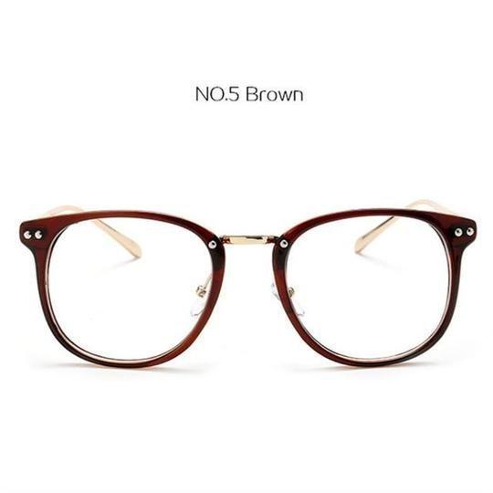 YOOSKE Fashion Übergroße Brille Transparent Männer Frauen Retro Metall Brille… – Frauen Brillenmodelle