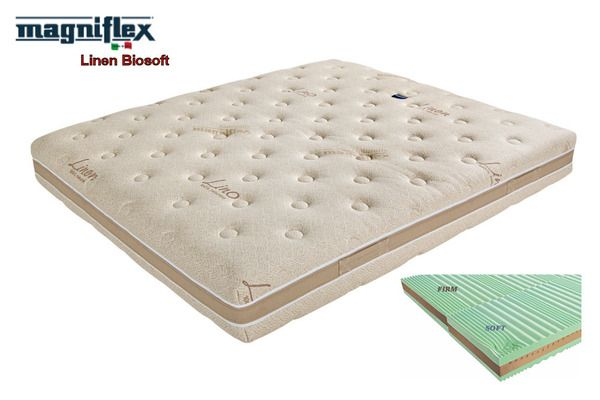 Linen Biosoft: the result of an ingenious idea. Designed to suit different sleeping needs: this mattress is combined of two identical layers...