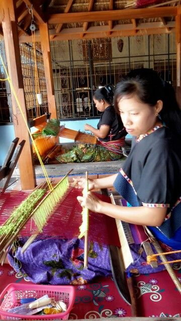 Weaving in Lombok, Indonesia