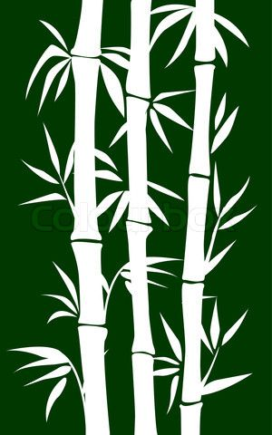 hawaiian foliage stencils | Vector of 'abstract bamboo tree. black background…