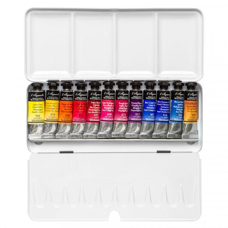 Billy Showell : Sennelier Watercolour Paint Set : 12 10ml : Tubes In Case - Watercolour Sets - Colour | Jackson's Art Supplies
