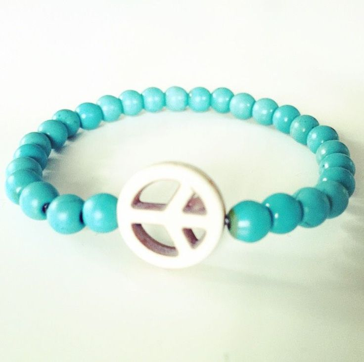 Peace turquoise via mBracedesigns. Click on the image to see more!