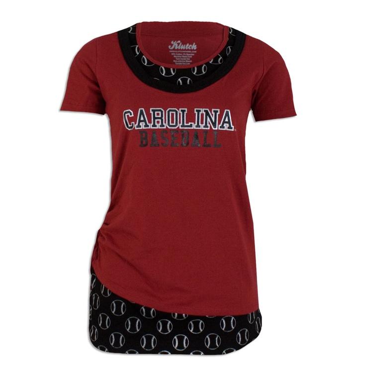 South Carolina Gamecock Ladies Baseball Shirt #gamecocks #baseball