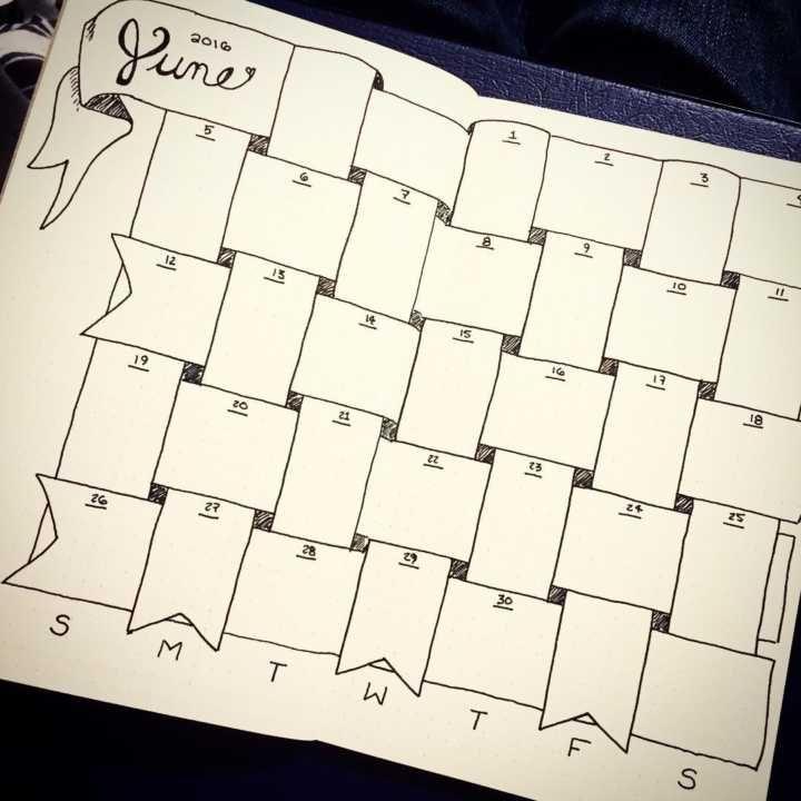 Um desenho simples como este já deixa o calendário com outra cara