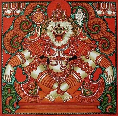 incarnations of Lord Vishnu part of  Dashavatar Series  Narasimha (Man-Lion)