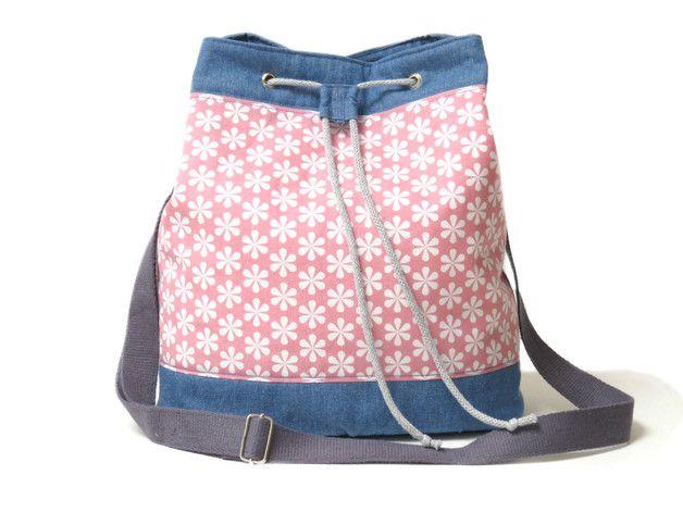 Schultertaschen - Buckettasche, MATCHBAG, Jeans, Baumwolle - ein Designerstück von ambaZamba bei DaWanda
