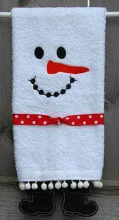 Snowman Towels