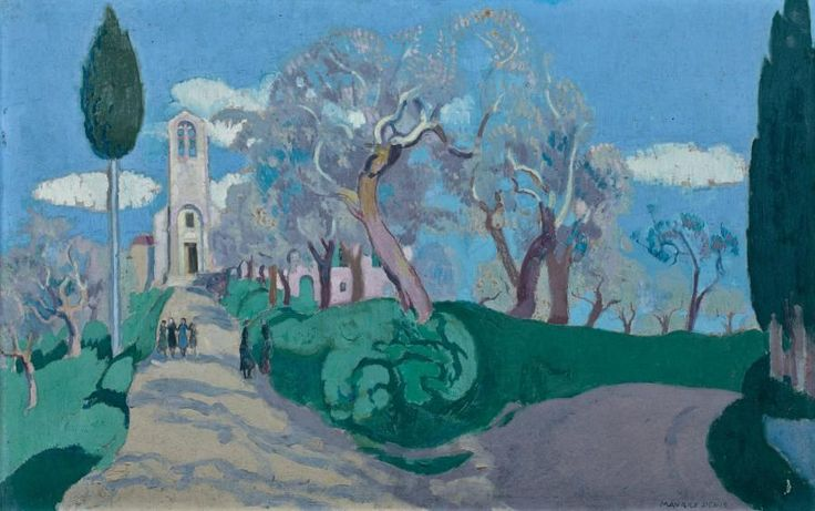 Maurice Denis (French, 1870-1943)  Santa Regina, Siena countryside, 1921