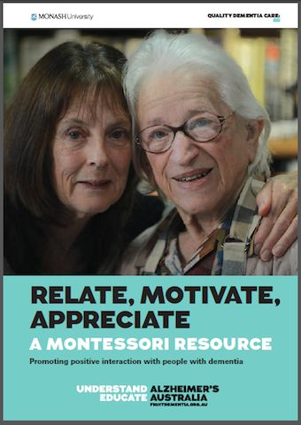 Alzheimer's Australia has launched a set of resources utilising the Montessori education method which aim to help family carers and people with dementia maintain better relationships. The launch coincides with the start of a national workshop tour.