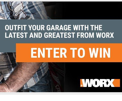 """Enter to win a $600.00 20V Hydroshot Portable Power Cleaner; Sidekick Portable Work Table; 20V Ai Drill Drill & Driver; 20V Axis Cordless Reciprocating & Jigsaw; 20V 10"""" Cordless Chainsaw; and 20V LED Work Light."""