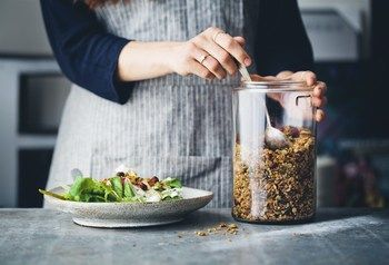 Image result for insta Savoury buckwheat granola with tons of mustard, thyme & rosemary. Perfect for salads, soups & so much more🌱 Recipe now on Green Kitchen Stories