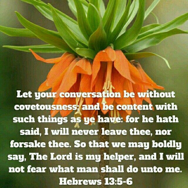 Hebrews 13:5-6 (KJV)