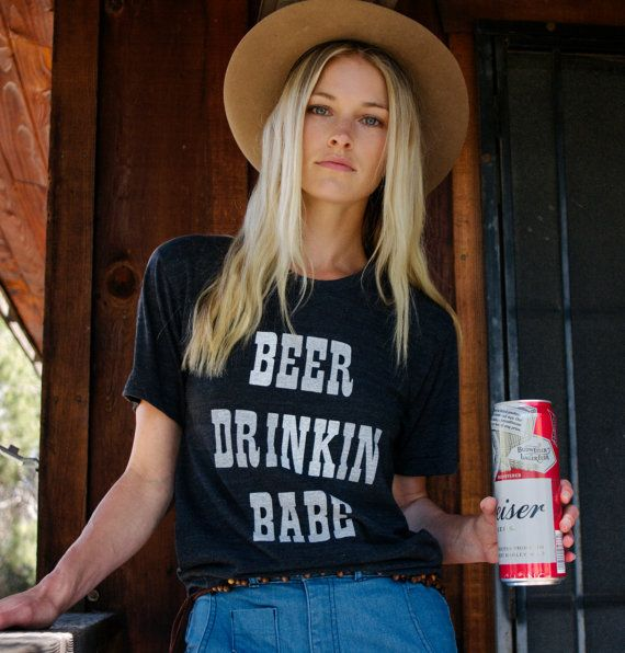 Beer Drinkin Babe tshirt beer tshirt womens tshirt by ElectricWest