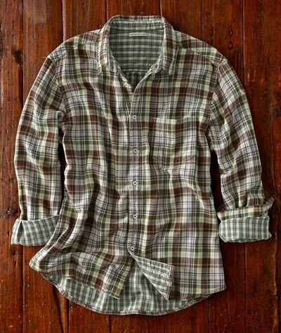 Effortlessly Cool Men's Shirts - Daylight Savings Plaid - Carbon2Cobalt