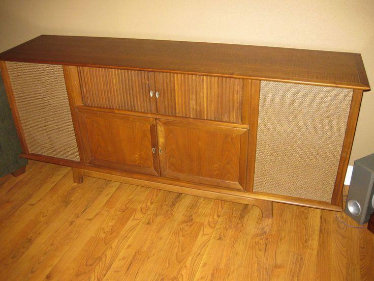 1961 Royal Dane Curtis Mathes Stereophonic Cabinet,  Original Walnut Finish #CurtisMathis