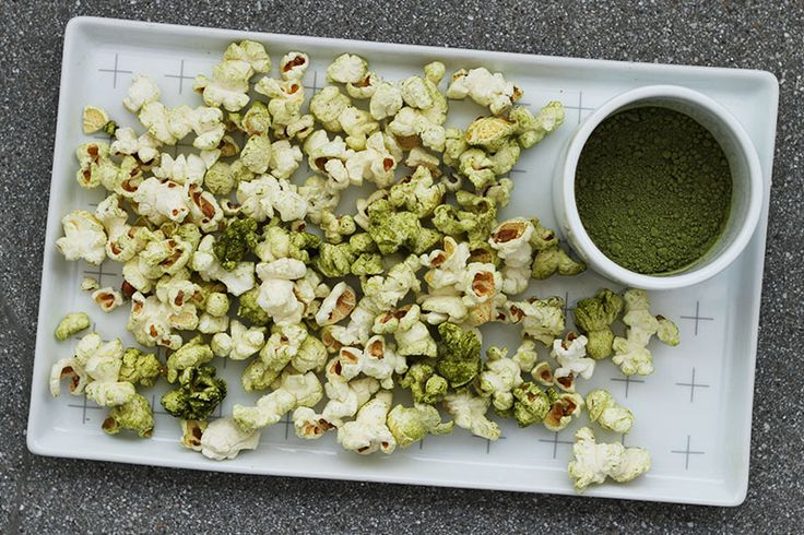 Healthy Snack Hack: Matcha Green Tea Popcorn
