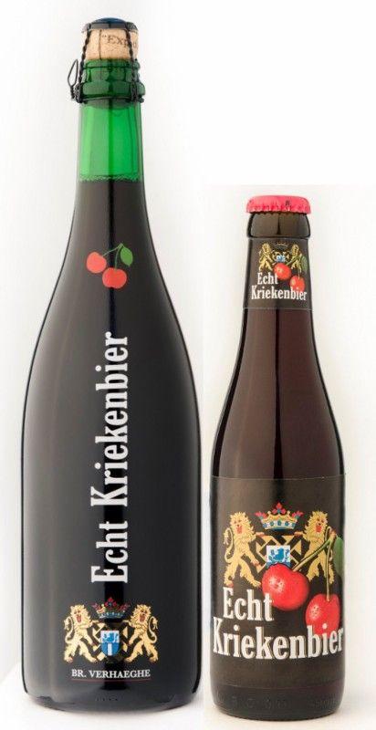 Cerveja Echt Kriekenbier, estilo Flanders Red Ale, produzida por Verhaeghe, Bélgica. 6.8% ABV de álcool.