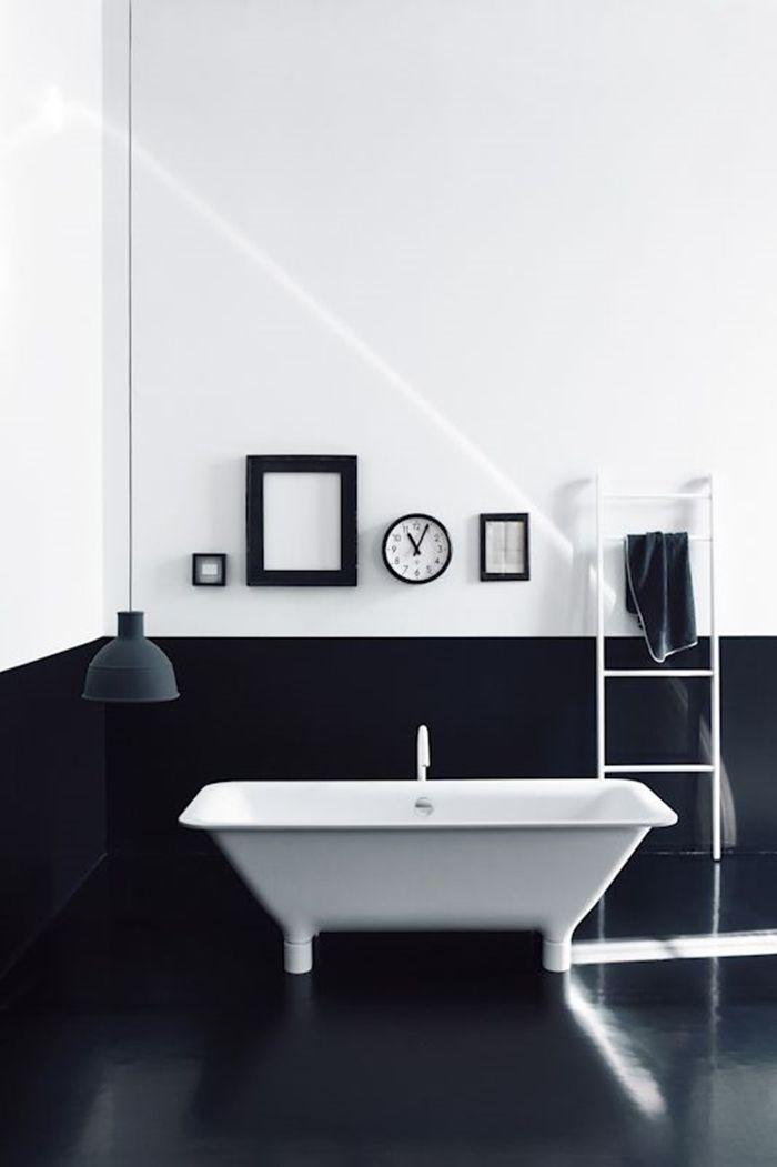 Bathroom Palette: black & white - Image from Studio Pepe Catalogue, designed for #Agape.  [Selection of bathroom images depending on colour shades] ITA: Il bagno in bianco e nero - galleria di immagini