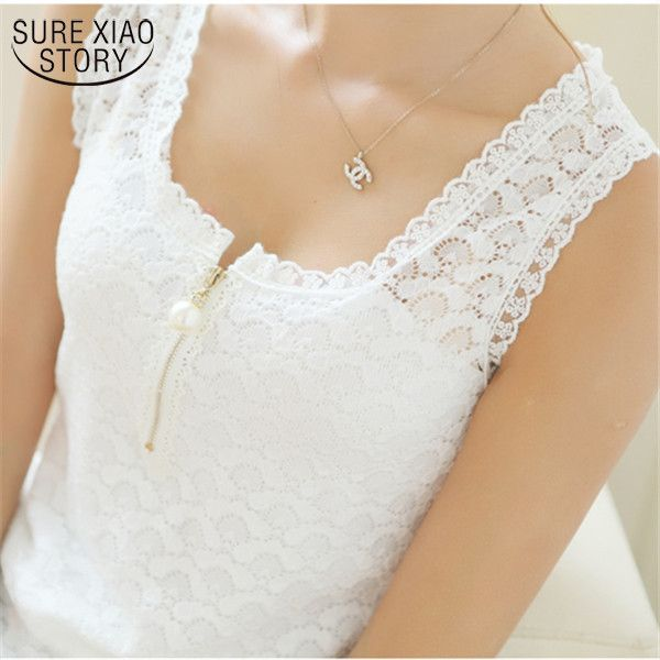 2017 Fashion Summer Style Ladies Tops With Lace Patchwork Fitness Women White Sexy Hollow Out  Lace Chiffon Blouse Shirt 117F 20