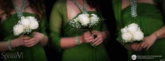 Le damigelle d'onore della sposa in #verde