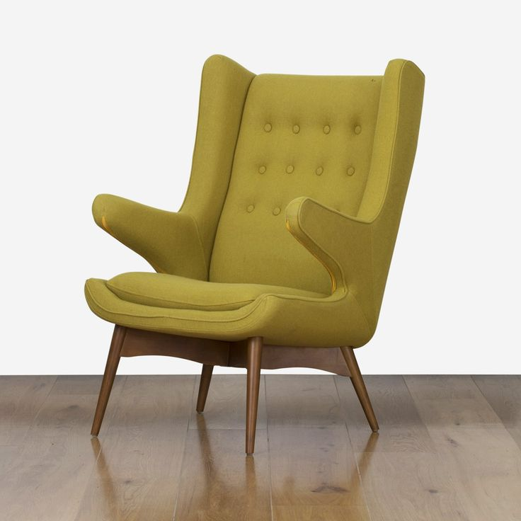 Ginger Vintage Lounge Chair & Stool - Green | $599.00