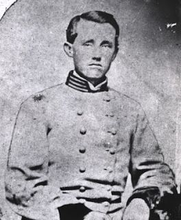 Brigadier General John Caldwell Calhoun Sanders (4 Apr 1840 – 21Aug1864) was one the Confederate States Army's youngest brigadier generals during the American Civil War. He was killed in action in an engagement along the Weldon Railroad in Virginia which is generally known as Battle of Globe Tavern (also known as the Second Battle of the Weldon Railroad), on August 21, 1864 when he was shot through both thighs and bled to death within a few minutes, during the Siege of Petersburg, VA.