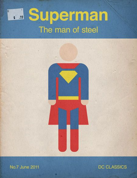 Retro Superman Book Cover