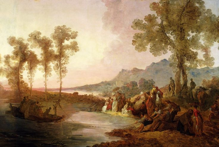 Trip to the lake by Jean-Pierre Norblin de La Gourdaine, ca. 1785 (PD-art/old), Muzeum Narodowe w Warszawie (MNW), commissioned by Izabela Czartoryska