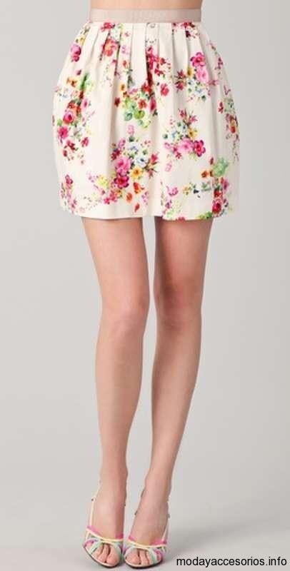mini falda de moda verano