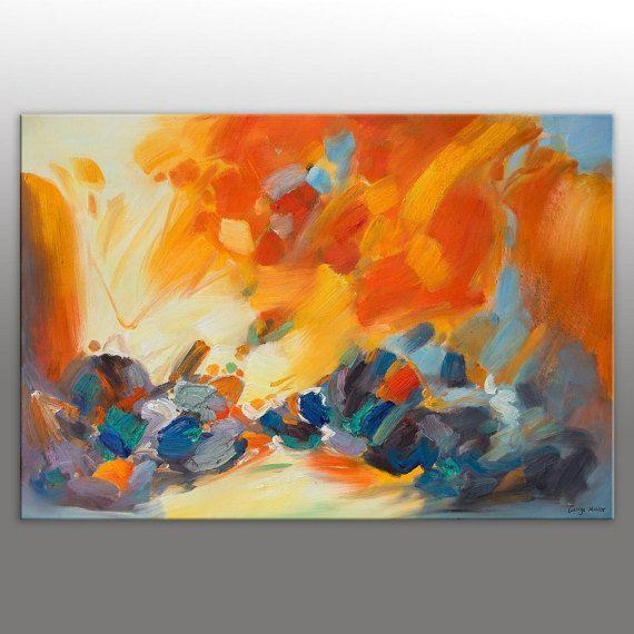 Pintura abstracta pintura al óleo de grandes lienzo Arte