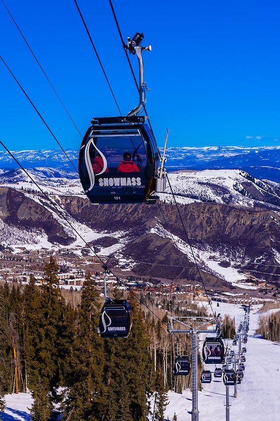 Elk Camp Gondola, Snowmass (Aspen) ski resort, Colorado
