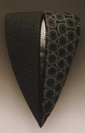 by Margaret Regan.   p.c., silver leaf brooch- 2.5 x 1.5 x .5 inches