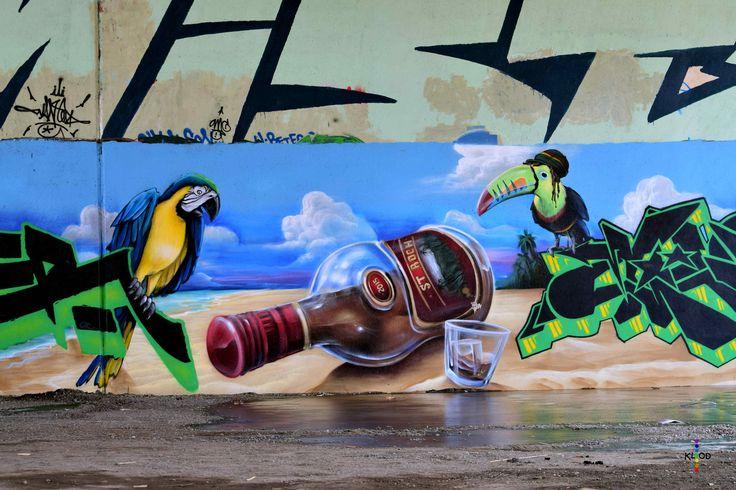 https://flic.kr/p/G9A9A3 | St-Rock on the rocks | Street art from Quebec City