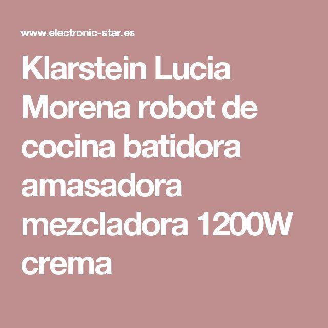 Klarstein Lucia Morena robot de cocina batidora amasadora mezcladora 1200W crema