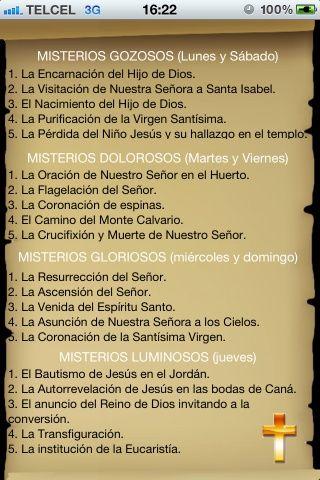 iPhone/iPad: Santo Rosario Católico misterios del rosario