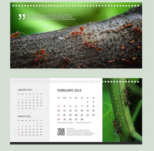 Calendar 2013 - Red Ants