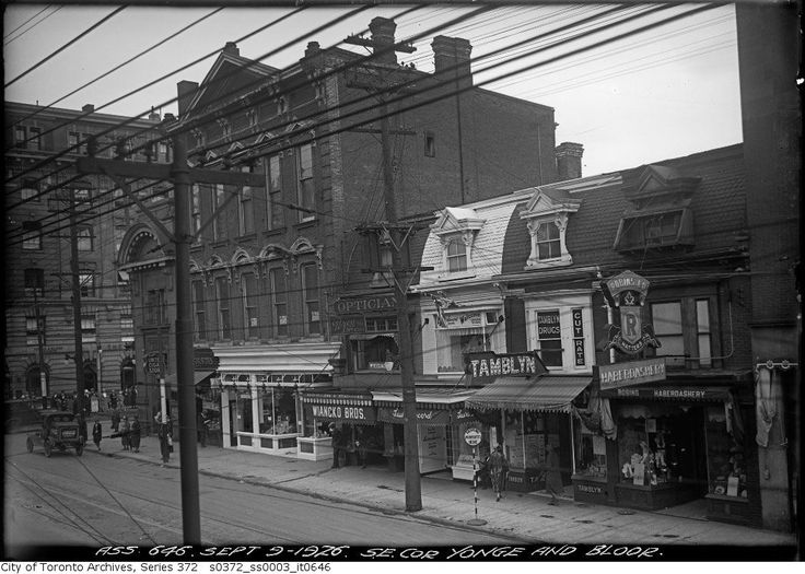 NE corner of Bloor and Yonge (and the SE). 1926: