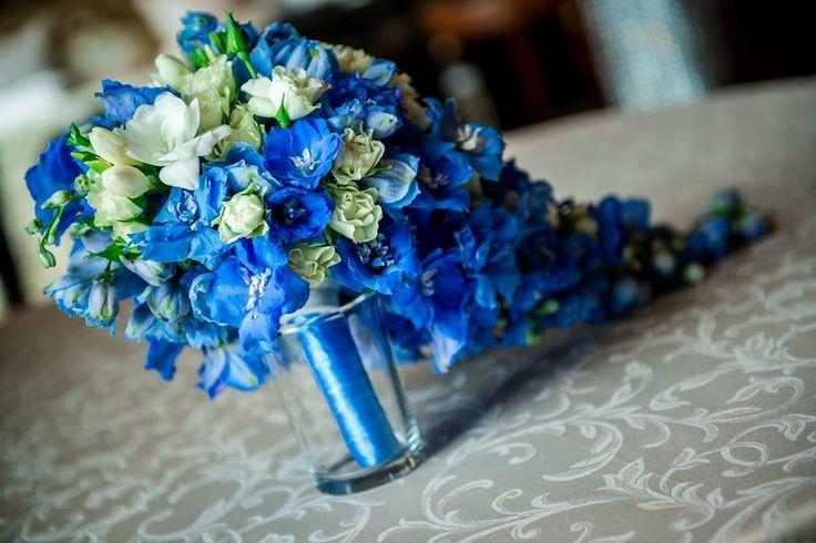 Bride flowers of delphinium