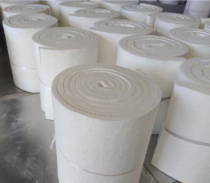 Thermal insulation ceramic fiber blanket