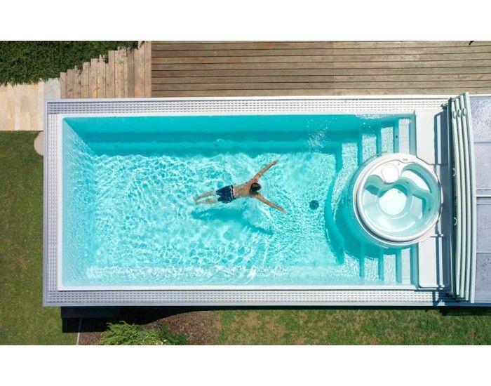 Keramický bazén Sundeck patrí medzi staršie modelové verzie. Hlavnou myšlienkou tohto tvaru je vytvoriť keramický bazén s integrovanou vírivou vaňou.