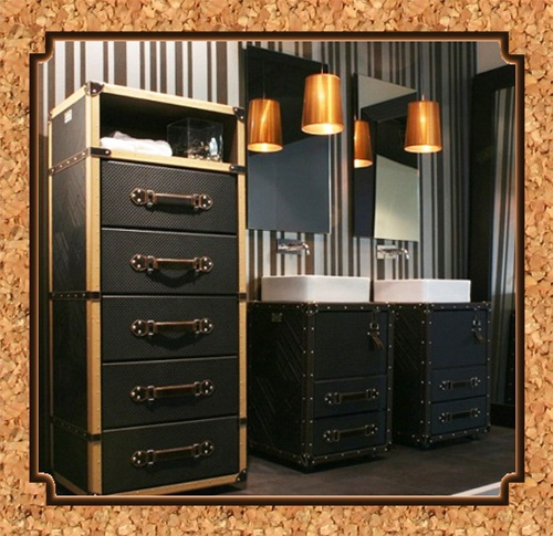 Captivating Steamtrunk/luggage Style Bathroom Furniture.