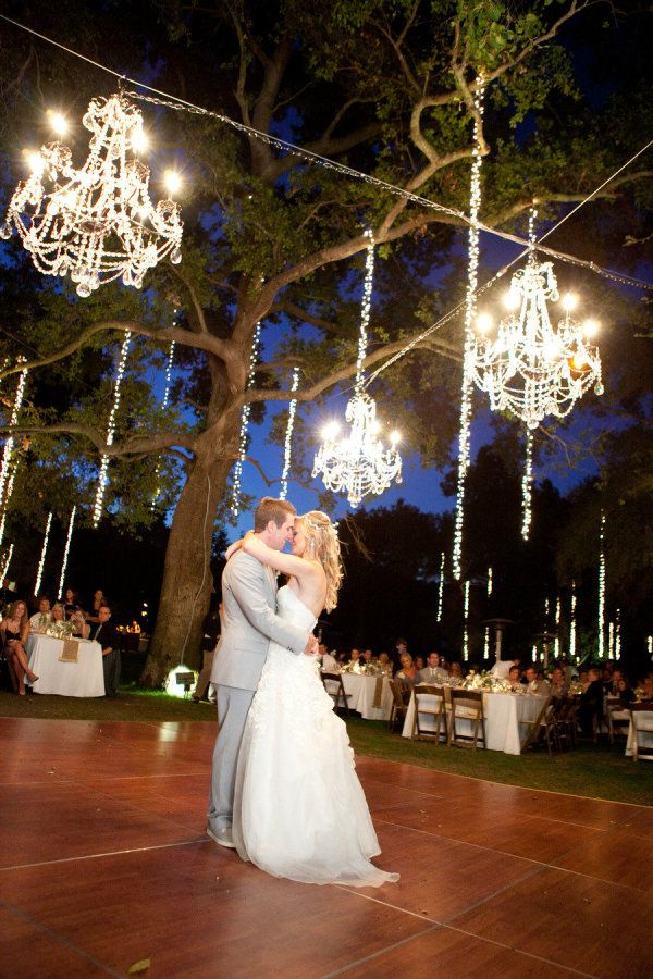 chandeliers!Lights, Outdoor Wedding, Ideas, First Dance, Wedding Receptions, Dance Floors, Dreams Wedding, Outside Wedding, Outdoor Receptions