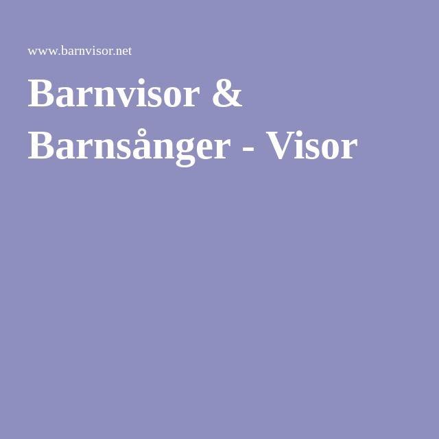 Barnvisor & Barnsånger - Visor