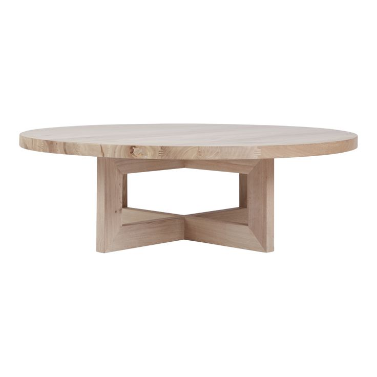 Bondi Round Oak Coffee Table