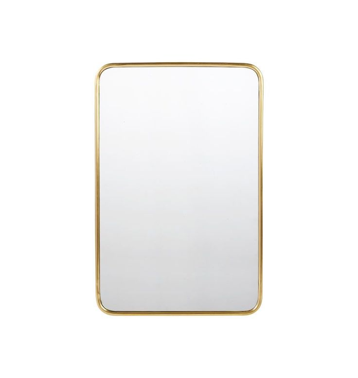 """20"""" x 30"""" Metal Framed Mirror - Rounded Rectangle Aged Brass E4337    $299 at Rejuvenation"""