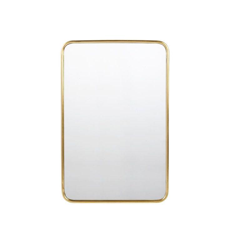 "20"" x 30"" Metal Framed Mirror - Rounded Rectangle - | Rejuvenation"
