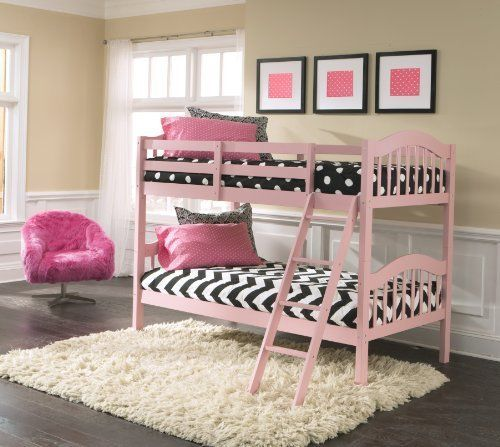 Bunk Beds Longhorn Pink Kids Bedroom Furniture Girls Full Size Twin Bed Separate #StorkCraft
